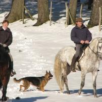 Salida a caballo con nieve